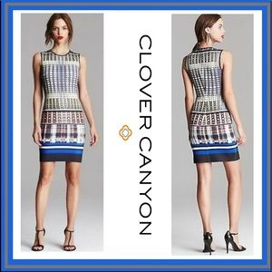 Clover Canyon Multi Donegal Printed Neoprene Dress